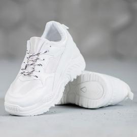 SHELOVET Białe Sneakersy 4