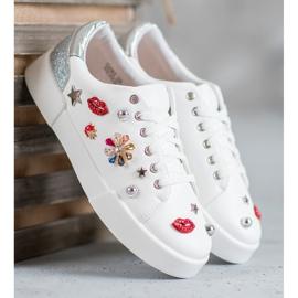 Bestelle Buty Sportowe Z Naszywkami białe 3
