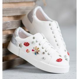 Bestelle Buty Sportowe Z Naszywkami białe 4