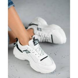 SHELOVET Wygodne Buty Sportowe białe 5