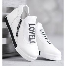 SHELOVET Sportowe Obuwie Love białe 4