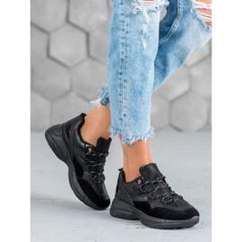 Muto Buty Sportowe Z Brokatem czarne 2