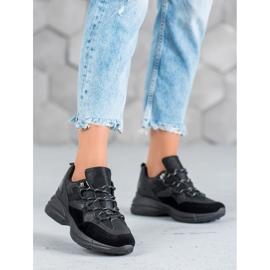 Muto Buty Sportowe Z Brokatem czarne 3