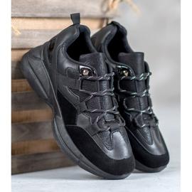 Muto Buty Sportowe Z Brokatem czarne 5