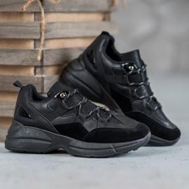 Muto Buty Sportowe Z Brokatem czarne 4