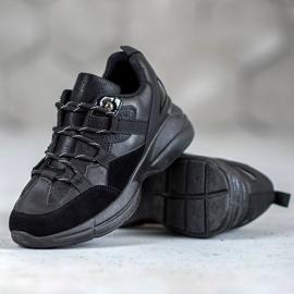 Muto Buty Sportowe Z Brokatem czarne 1