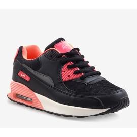Czarne obuwie sportowe B306A-41 różowe wielokolorowe 1