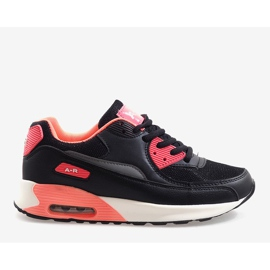 Czarne obuwie sportowe B306A-41 różowe wielokolorowe 2