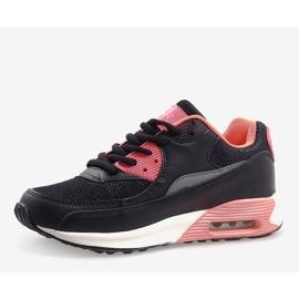 Czarne obuwie sportowe B306A-41 różowe wielokolorowe 3