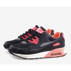 Czarne obuwie sportowe B306A-41 różowe wielokolorowe 4