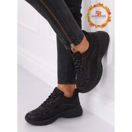 Buty sportowe czarne BY-082 Black 1