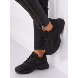 Buty sportowe czarne BY-082 Black 4
