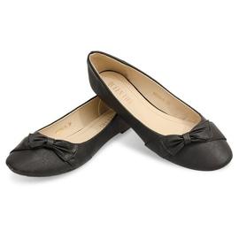 Balerinki Z Kokardką 816 Czarny czarne 4