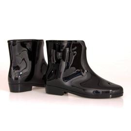 Krótkie Kalosze Z Kokardką SD97 Czarny czarne 1
