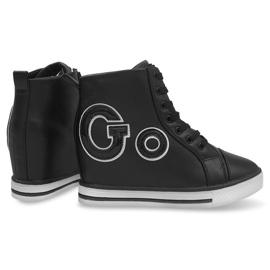 Modne Sneakersy Go GFA108 Czarny czarne 1