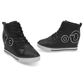 Modne Sneakersy Go GFA108 Czarny czarne 2