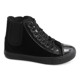 Wysokie Trampki JX-96 Czarny czarne 4