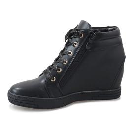 Czarne sneakersy ze złotym suwakiem TL-22 2