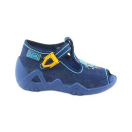 Befado obuwie dziecięce 217P103 niebieskie 1