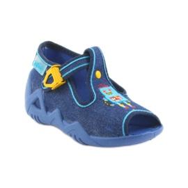 Befado obuwie dziecięce 217P103 niebieskie 2