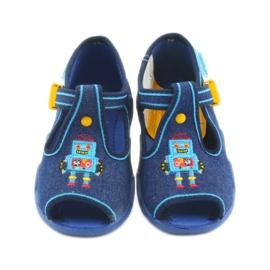 Befado obuwie dziecięce 217P103 niebieskie 4