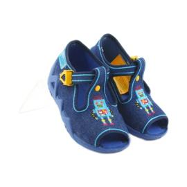 Befado obuwie dziecięce 217P103 niebieskie 5
