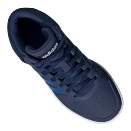 Buty adidas Hoops Mid 2.0 Jr EE6707 granatowe 3