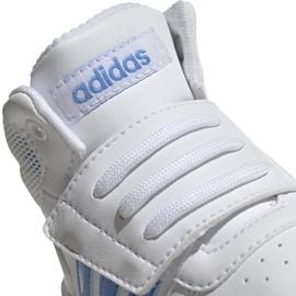 Buty adidas Hoops Mid 2.0 I Jr EE8550 białe 4