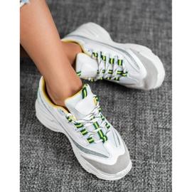 SHELOVET Białe Sneakersy Z Brokatem 1