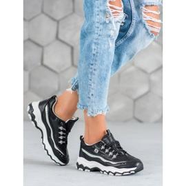 Yes Mile Sneakersy Z Brokatem czarne 5