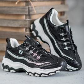 Yes Mile Sneakersy Z Brokatem czarne 2