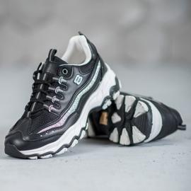 Yes Mile Sneakersy Z Brokatem czarne 4