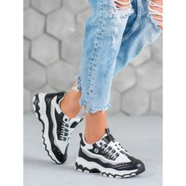 Yes Mile Sneakersy Z Brokatem białe czarne 1