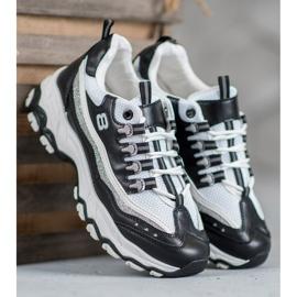 Yes Mile Sneakersy Z Brokatem białe czarne 3