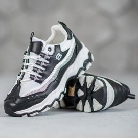 Yes Mile Sneakersy Z Brokatem białe czarne 6
