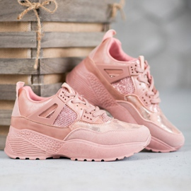 SHELOVET Różowe Sneakersy Moro 5