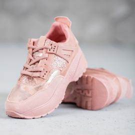 SHELOVET Różowe Sneakersy Moro 3