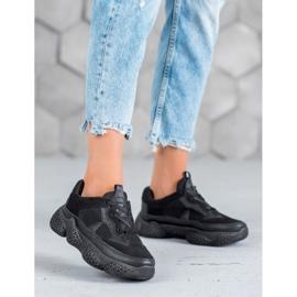 SHELOVET Czarne Sneakersy Damskie 1