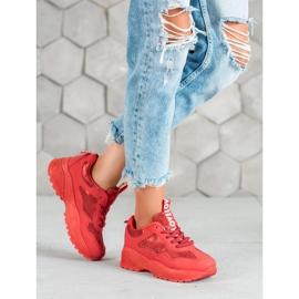 SHELOVET Czerwone Sneakersy Moro 5