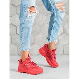 SHELOVET Czerwone Sneakersy Moro 4