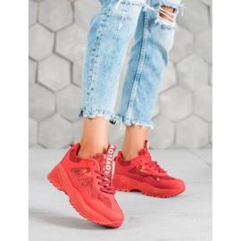 SHELOVET Czerwone Sneakersy Moro 3