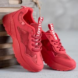 SHELOVET Czerwone Sneakersy Moro 1