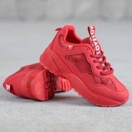 SHELOVET Czerwone Sneakersy Moro 2