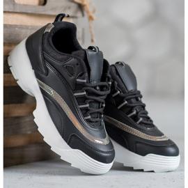 SHELOVET Modne Czarne Sneakersy 1