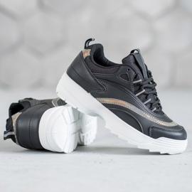 SHELOVET Modne Czarne Sneakersy 5