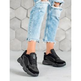 SHELOVET Czarne Sneakersy Damskie 3