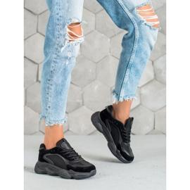 SHELOVET Czarne Sneakersy Damskie 4