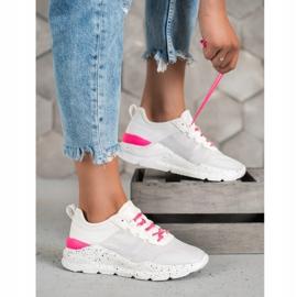 Kylie Klasyczne Obuwie Sportowe białe różowe 4