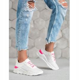 Kylie Klasyczne Obuwie Sportowe białe różowe 7