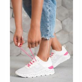 Kylie Klasyczne Obuwie Sportowe białe różowe 5